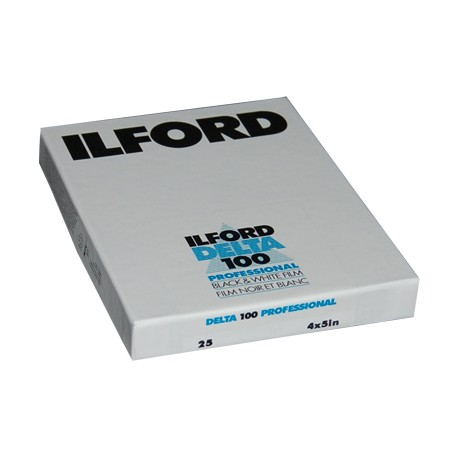 Ilford Delta 100 Sheet Film 10.2 x 12.7cm - 25 sheets