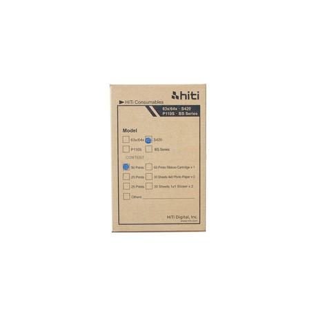 "HiTi S420 50 Pack 4"" x 6"" Sheets + Ribbon"