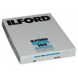 Ilford Delta 100 Sheet Film 10.2 x 12.7cm - 25 sheets