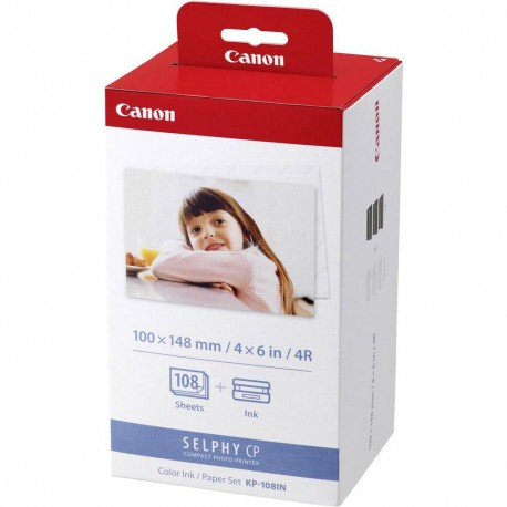 Canon Selphy KP-108IN Ink and Paper Set (108 Prints) x 10